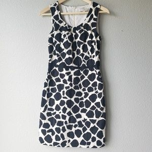 LOFT Black & White Giraffe Print Dress